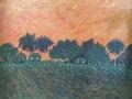 Félix Echevarría Martínez. Puesta de sol de un eterno amanecer (Mixta-lienzo) 81 x 71 cm (2020)